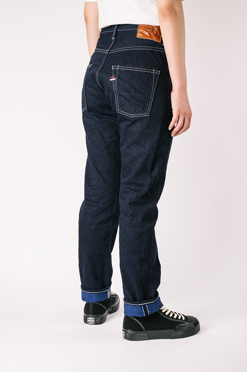 "YUHT 16.5oz Natural Indigo ""Yurai"" High Tapered Jeans,, large image number 7"