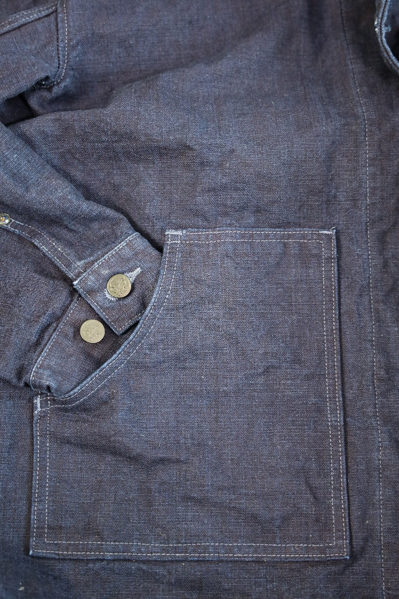"YOUJKT 25oz ""Yoroi"" Heavy Canvas Utility Indigo  Jacket,, large image number 1"
