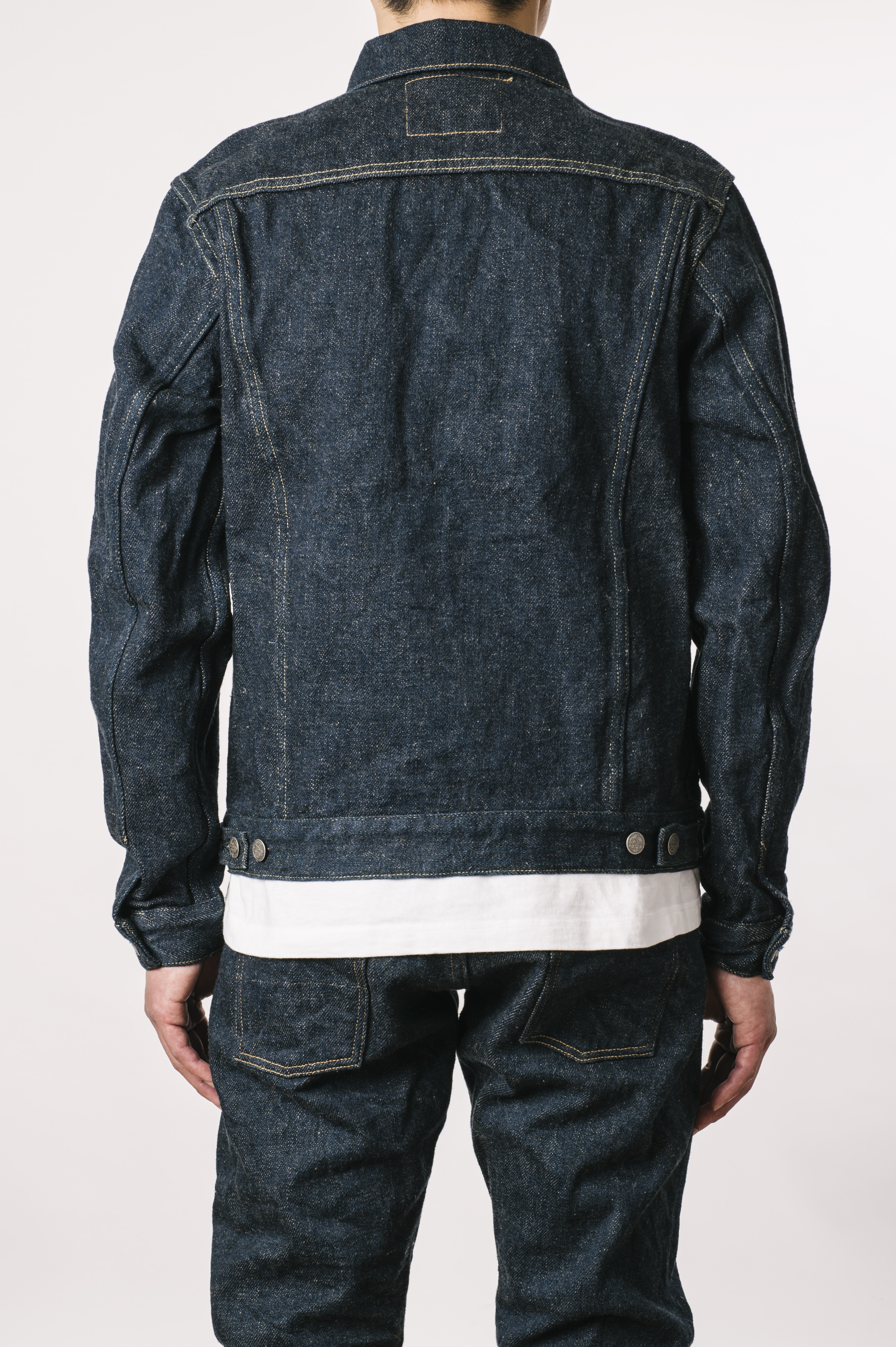 OTJKT3 ONI x TANUKI Collaboration 21.5oz Secret Denim Signature 3rd Jacket with handwarmers,, large image number 8
