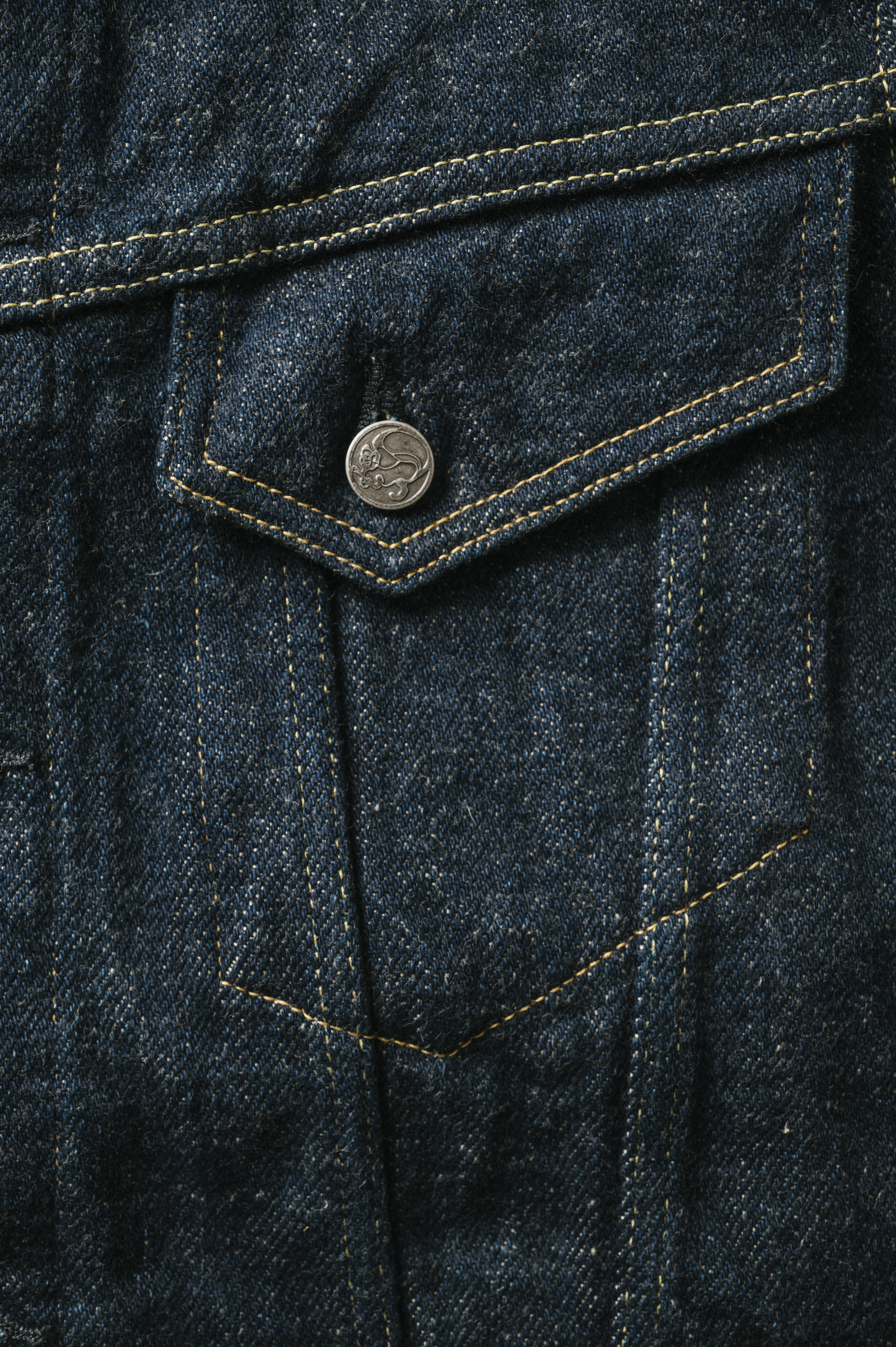 OTJKT3 ONI x TANUKI Collaboration 21.5oz Secret Denim Signature 3rd Jacket with handwarmers,, large image number 4